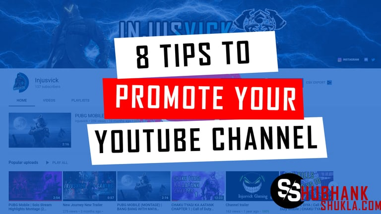 8 tips to promote your YouTube channel
