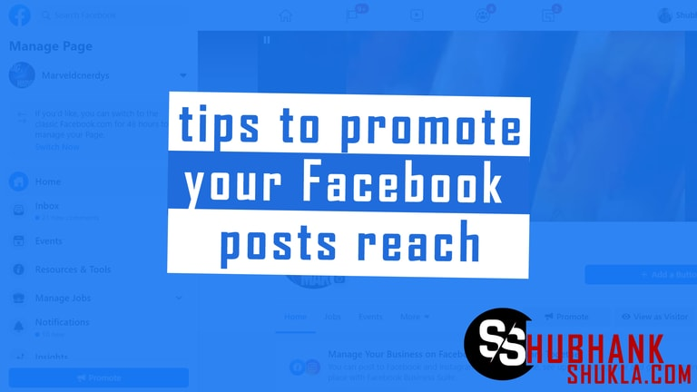 Tips to promote your Facebook Post reach