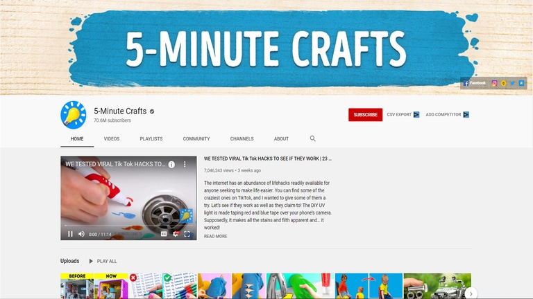 5 Minute Crafts YouTube Channel