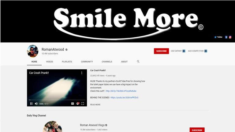 RomanAtwood YouTube Channel